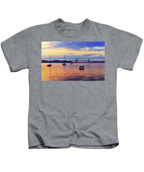 Bridge Sunset Kids T-Shirt