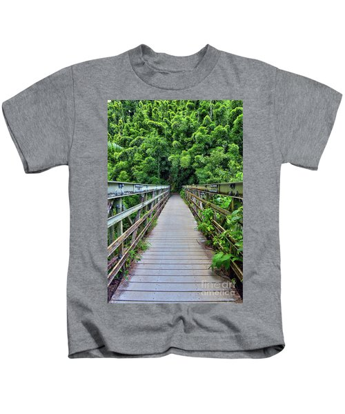 Bridge To Bamboo Forest Kids T-Shirt