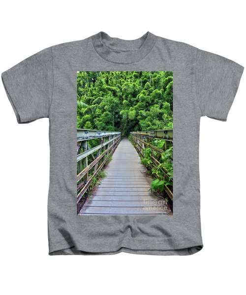 Bridge To Bamboo Forest Kids T-Shirt