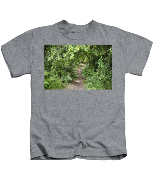 Bright Path In Leafy Forest Kids T-Shirt