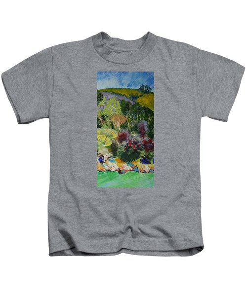 Brightly Colored Devon Landscape - Dartmouth England Kids T-Shirt