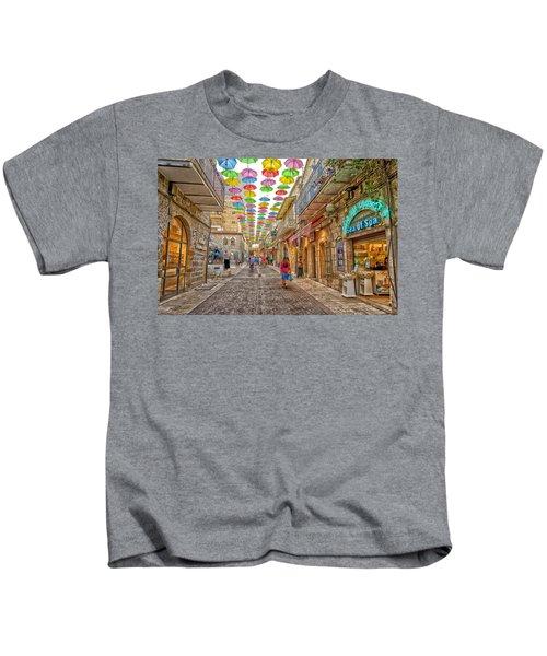 Brollies Over Jerusalem Kids T-Shirt
