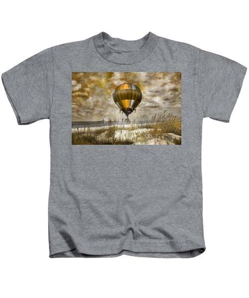Bronze Beach Ballooning Kids T-Shirt