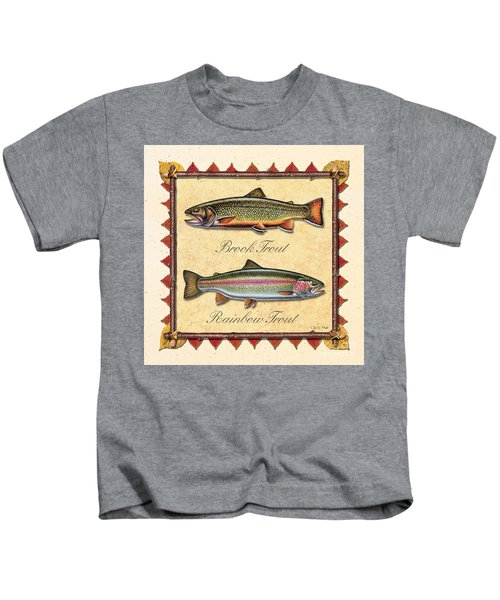 Brook And Rainbow Trout Creme Kids T-Shirt