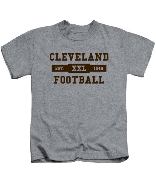 Browns Retro Shirt Kids T-Shirt by Joe Hamilton