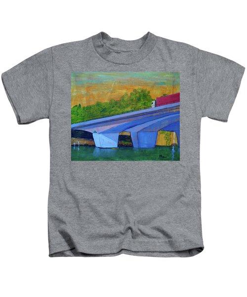 Brunswick River Bridge Kids T-Shirt