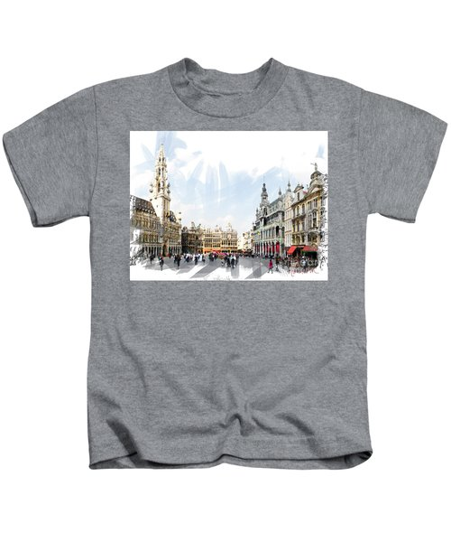 Brussels Grote Markt  Kids T-Shirt