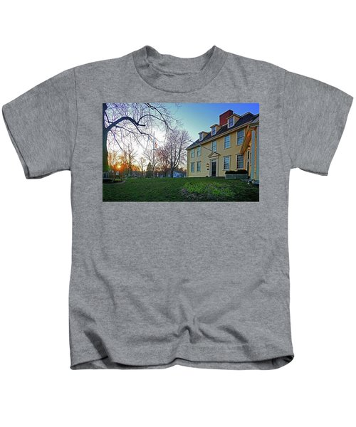 Buckman Tavern At Sunset Kids T-Shirt