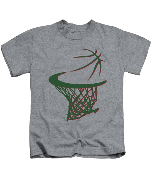 Bucks Basketball Hoop Kids T-Shirt