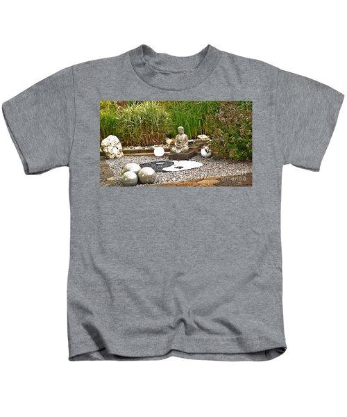 Buddha Looks At Yin And Yang Kids T-Shirt