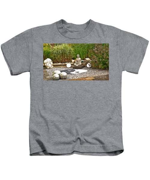 Buddha Looks At Yin And Yang Kids T-Shirt