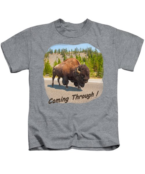 Buffalo Kids T-Shirt by John M Bailey