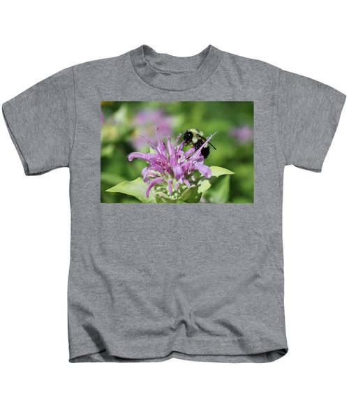 Bumblebee On Bee Balm Kids T-Shirt