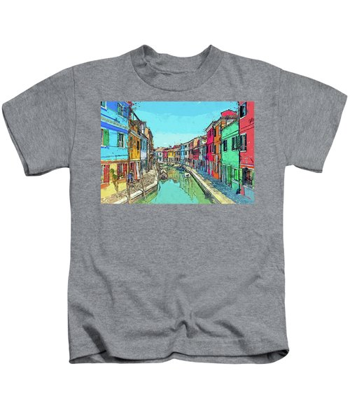 Burano Sketch Kids T-Shirt