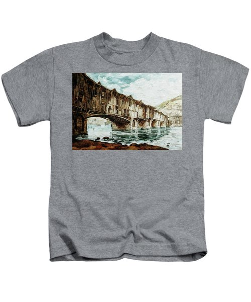 Burnt Covered Bridge Kids T-Shirt