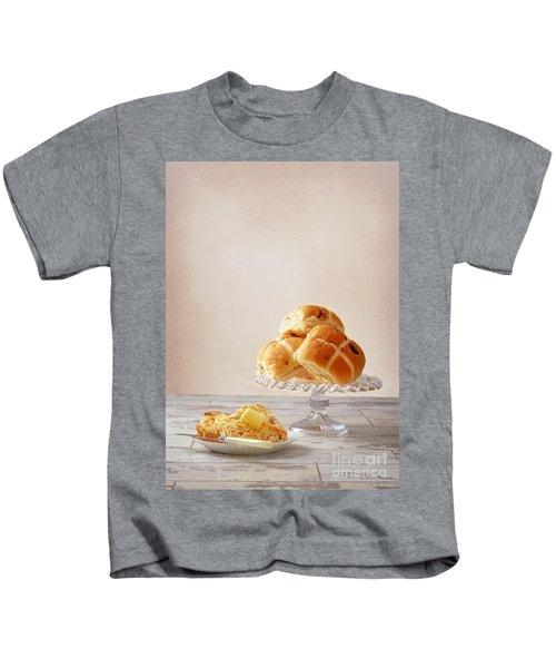 Buttered Hot Cross Bun Kids T-Shirt