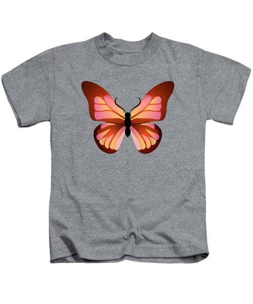 Butterfly Graphic Pink And Orange Kids T-Shirt