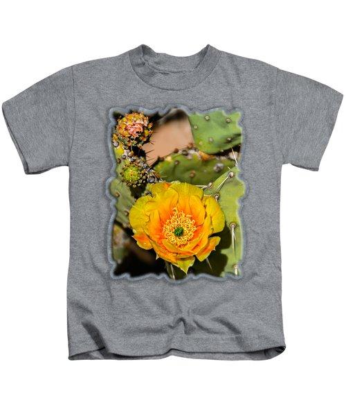 Cactus Flower V46 Kids T-Shirt