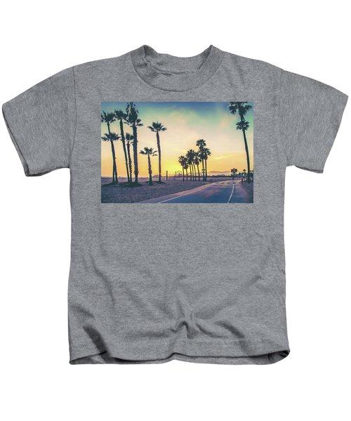 Cali Sunset Kids T-Shirt by Az Jackson