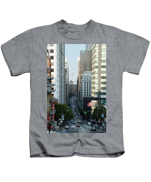 California Street San Francisco Kids T-Shirt