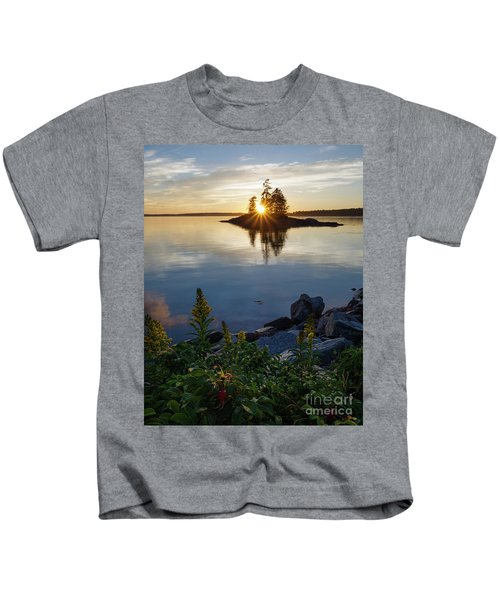 Calm Water At Sunset, Harpswell, Maine -99056-99058 Kids T-Shirt