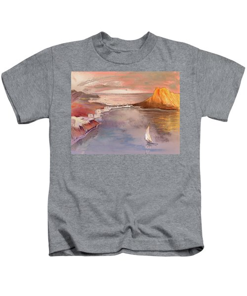 Calpe At Sunset Kids T-Shirt