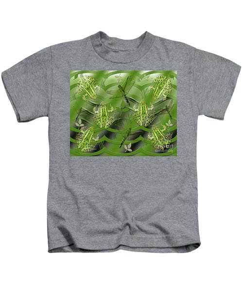 Camo Frog Dragonfly Kids T-Shirt