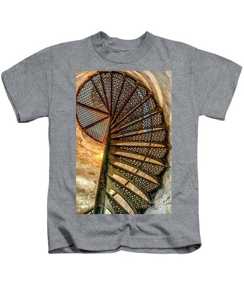 Cana Island Lighthouse Staircase Kids T-Shirt