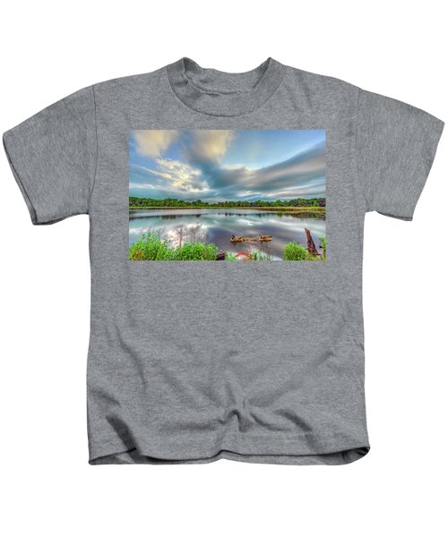 Canadian Geese On A Marylamd Pond Kids T-Shirt