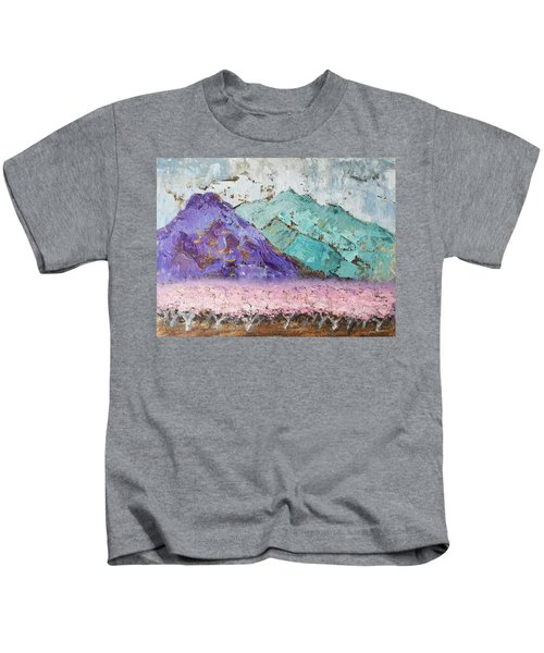Canigou With Blooming Peach Trees Kids T-Shirt