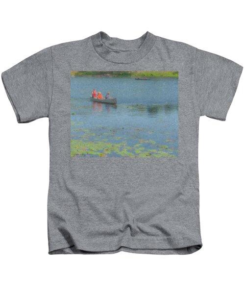 Canoes On Shovelshop Pond Kids T-Shirt
