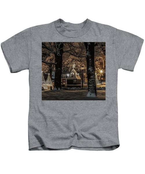 Canopy Of Christmas Lights Kids T-Shirt