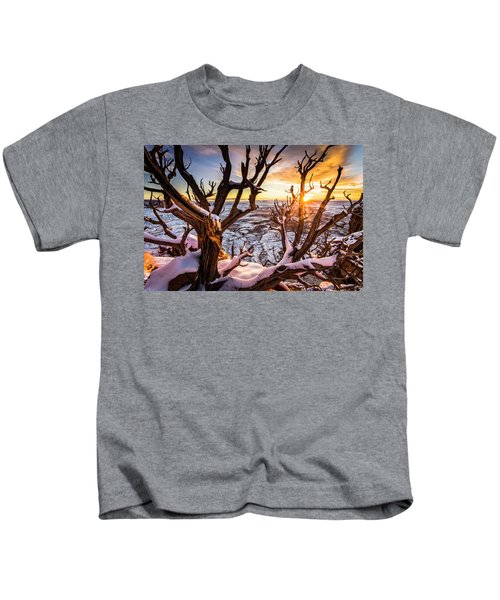 Canyonlands Winter Sunset Kids T-Shirt