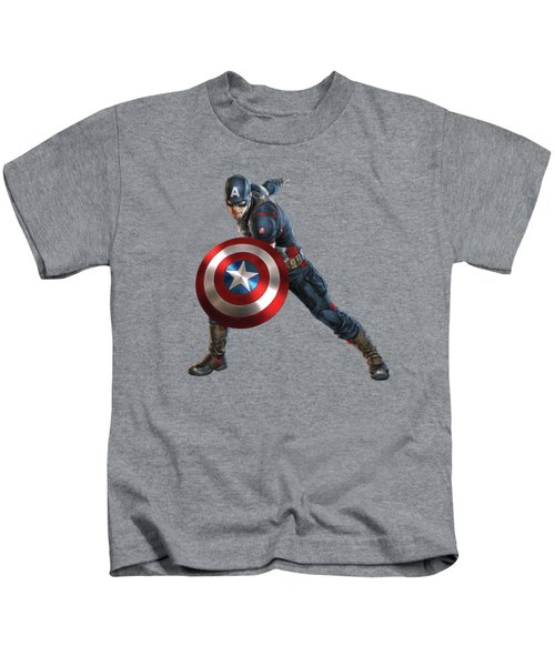 Captain America Splash Super Hero Series Kids T-Shirt