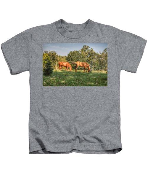 1006 - Caramel Horses I Kids T-Shirt
