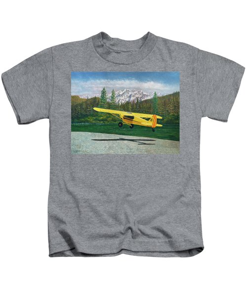 Carbon Cub Riverbank Takeoff Kids T-Shirt