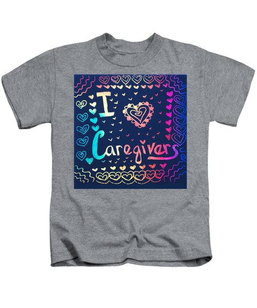 Caregiver Rainbow Kids T-Shirt
