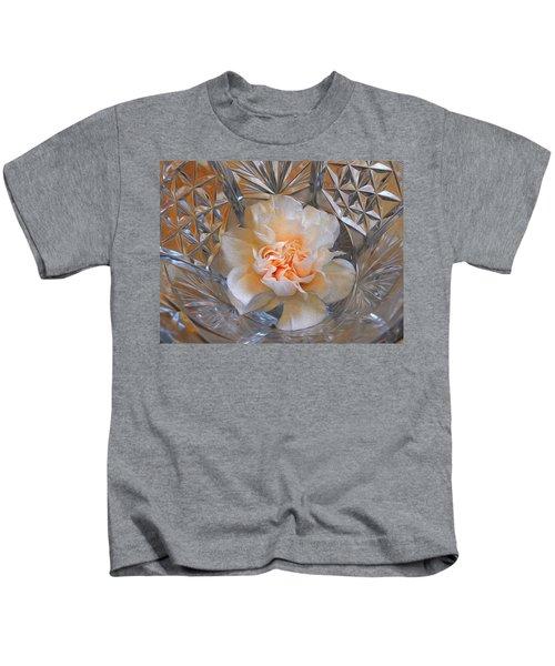 Carnation In Cut Glass 7 Kids T-Shirt
