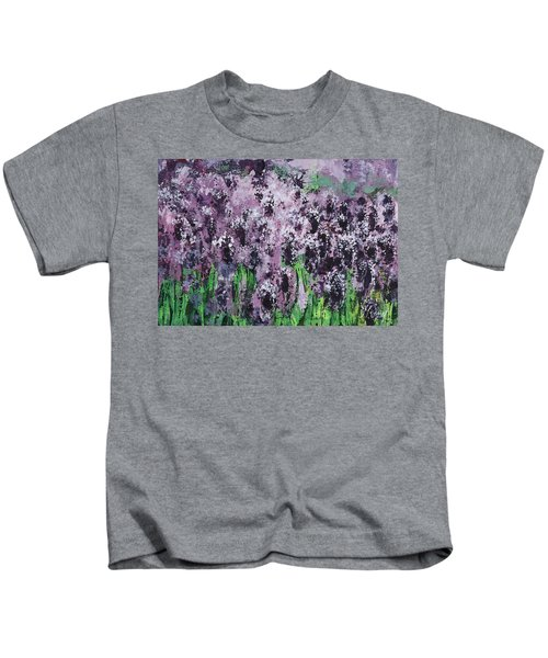 Carpet Of Lavender Kids T-Shirt
