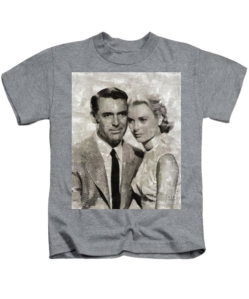 Cary Grant And Grace Kelly, Hollywood Legends Kids T-Shirt
