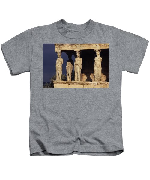 Caryatides At The Acropolis Kids T-Shirt
