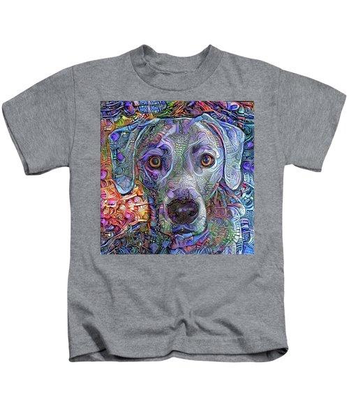 Cash The Blue Lacy Dog Closeup Kids T-Shirt