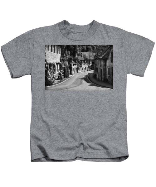 Castle Combe England 2 Bw  Kids T-Shirt