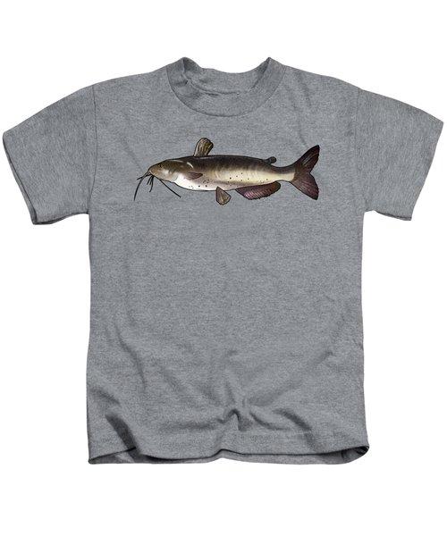 Catfish Drawing Kids T-Shirt by A C