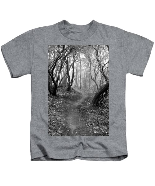 Cathedral Hills Serenity In Black And White Kids T-Shirt