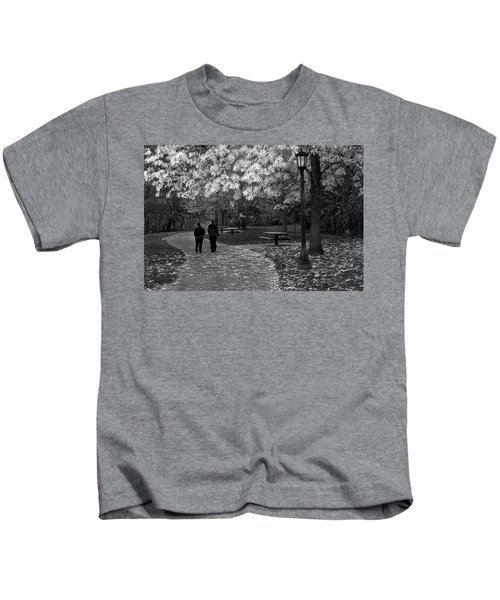 Cathedral Park In Fall Bw Kids T-Shirt