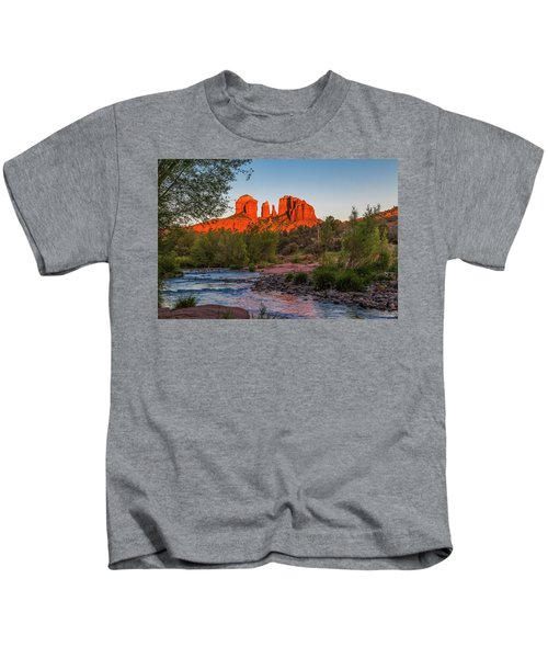 Cathedral Rock At Red Rock Crossing Kids T-Shirt