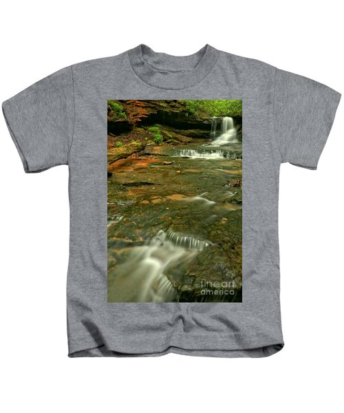 Cave Falls Portrait - Forbes State Forest Kids T-Shirt
