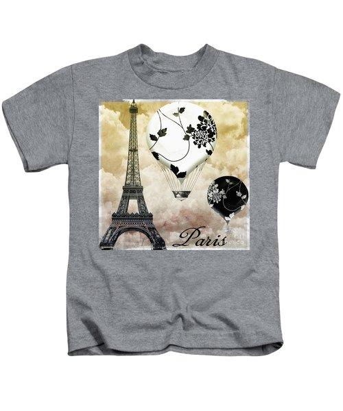 Ceil Jaune II Vintage Hot Air Balloon Kids T-Shirt