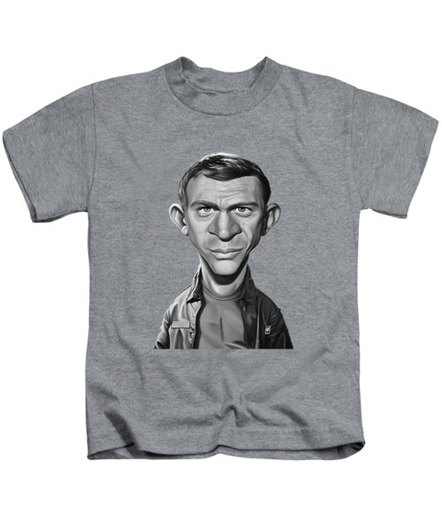 Celebrity Sunday - Steve Mcqueen Kids T-Shirt